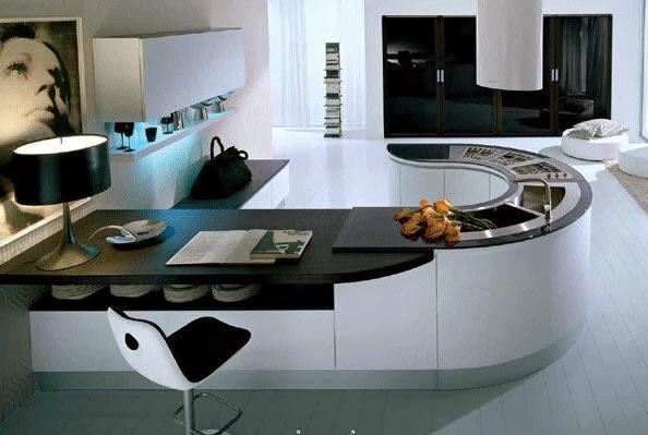15 diseños de barras o islas de cocina para tu casa, ¿Como ves la 5?