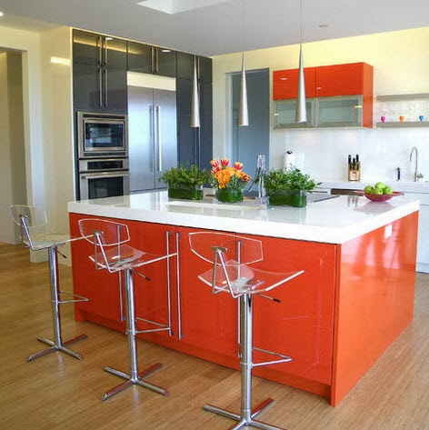 blog-7-Moderna-cocina-e-isla-color-anaranjado