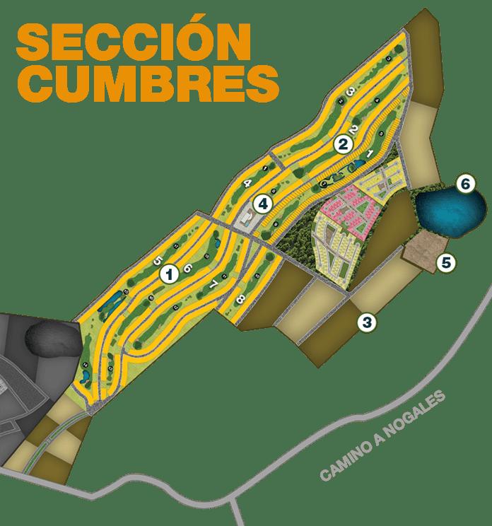Terreno en El Roble Residencial Mapa Sección Cumbres