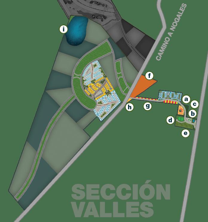 Terreno en El Roble Residencial Mapa Sección Valles