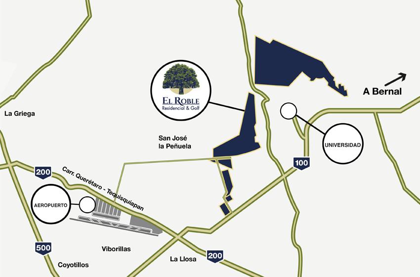 Terreno en El Roble Residencial Mapa
