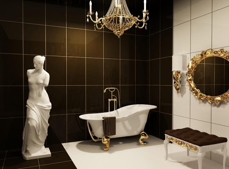 baños de lujo adornos