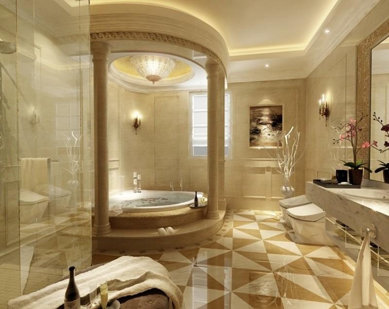 baños de lujo color