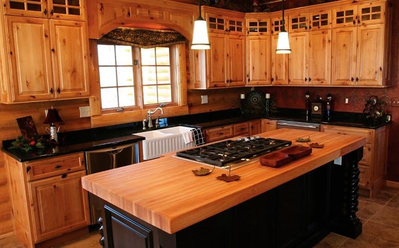 cocina integral rústica