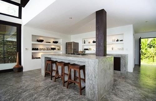 cocina moderna en concreto