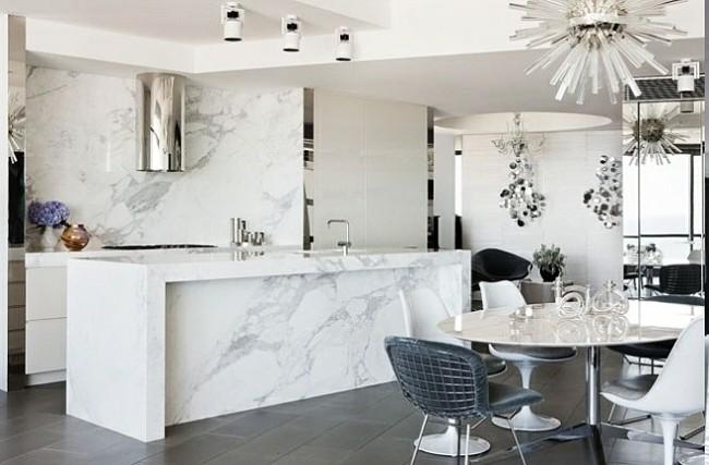 cocina moderna en marmol