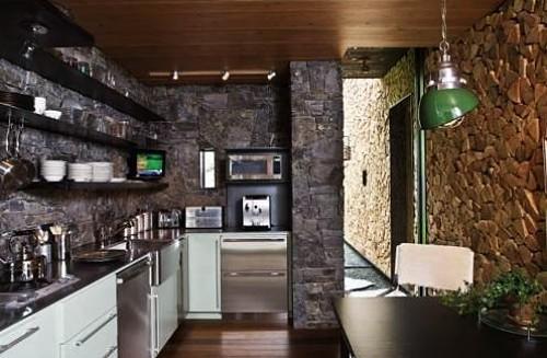 cocina moderna en piedra