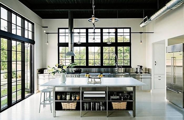 cocina moderna tipo loft