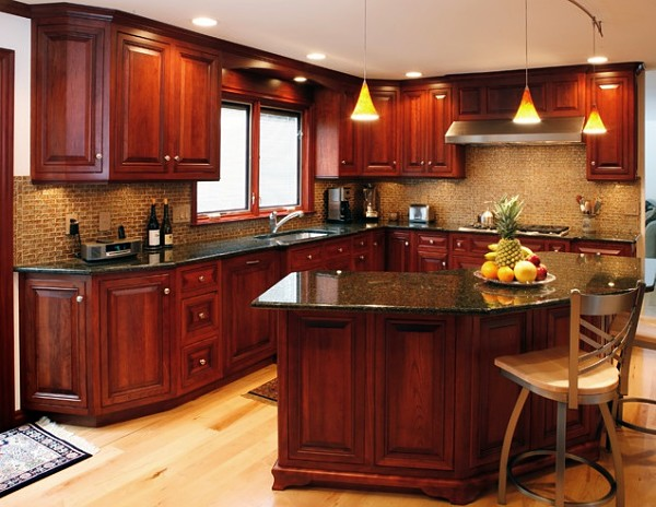 cocinas de madera grande