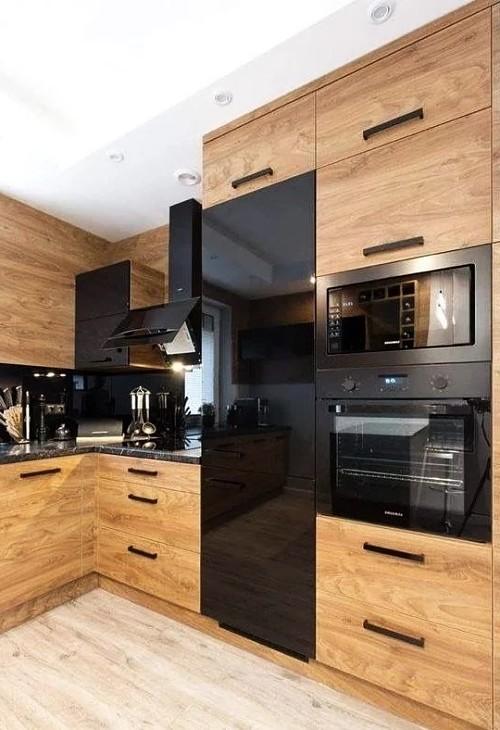 cocinas de madera moderna