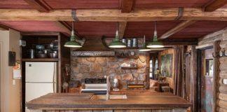 cocinas de madera rústica