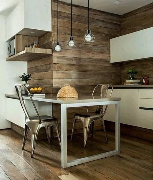 cocinas de madera con revestimiento
