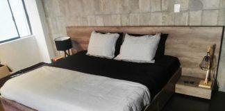 recámaras de madera minimalista